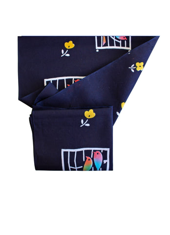 Tori Bird Yukata Fabric