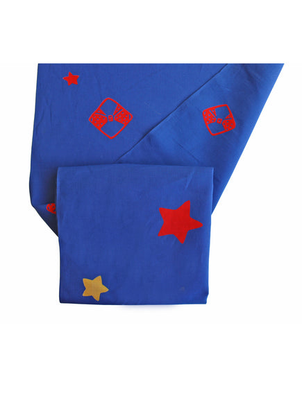 Royal Blue Stars Yukata Fabric
