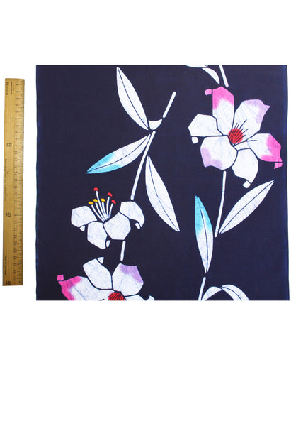 Bold Flowers Yukata Fabric
