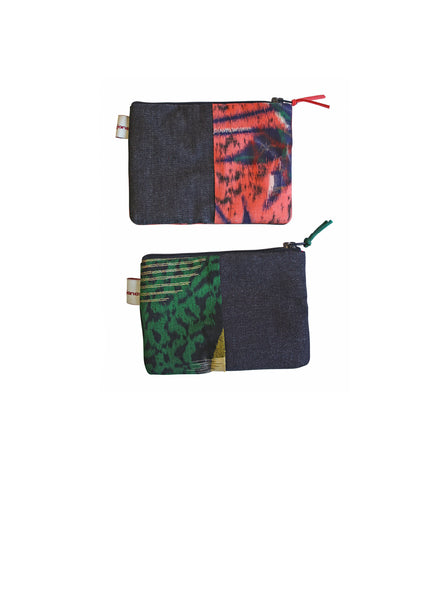 Ikat Varieties Denim Coin Purse