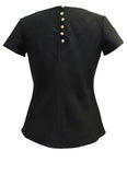 Black Kantan Silk Cotton Top