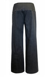 Black Denim Wide Leg Denim Pant