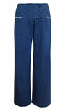 Indigo Denim Wide Leg Pant
