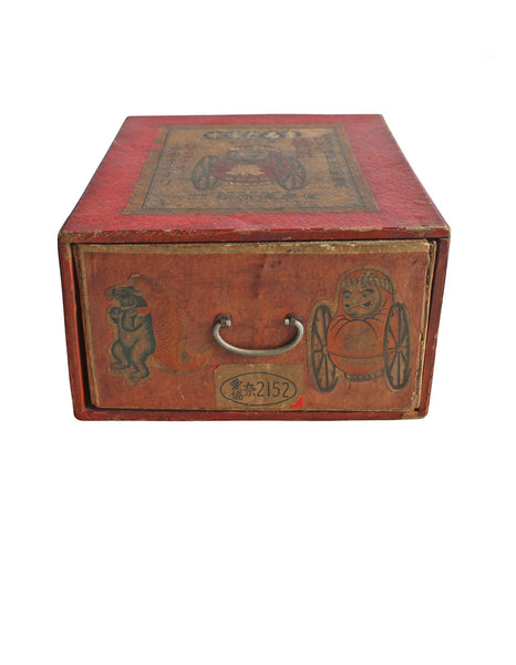 Daruma on Wheels Wood Box