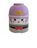 Kokeshi Bento Box Purple Lolita