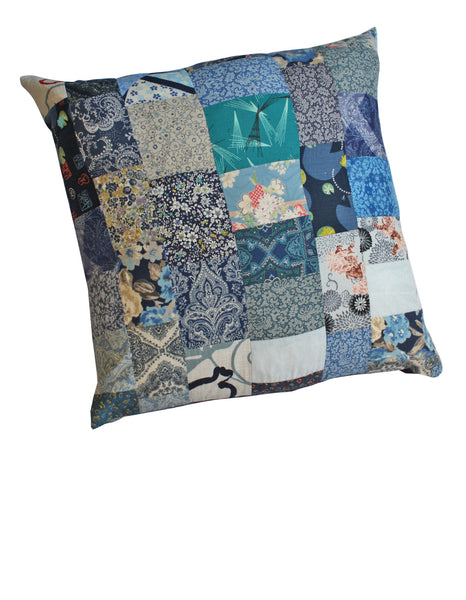 Navy Blues Cotton Cushion Cover