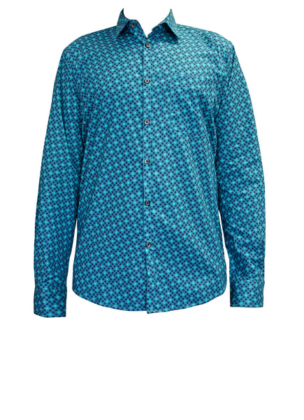 Blue Dots Cotton Men