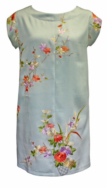 Ice Embroidered Silk Tunic Dress