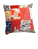 Flower Reds Silk Cushion Cover