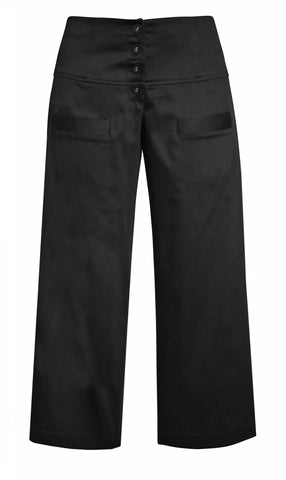 Black fitto 7/8 Pants