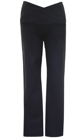 Black Ponti Narrow Leg Pant