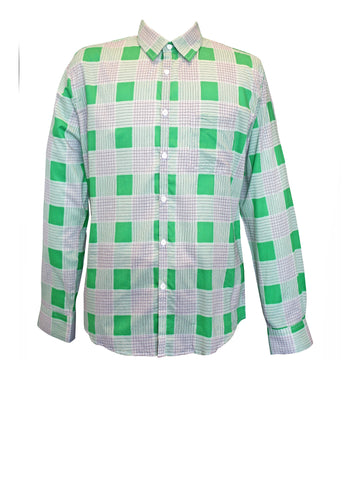 Green Square Men's Shirt