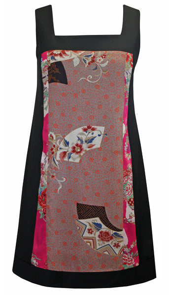 Capri Silk Vintage Panel Pinafore