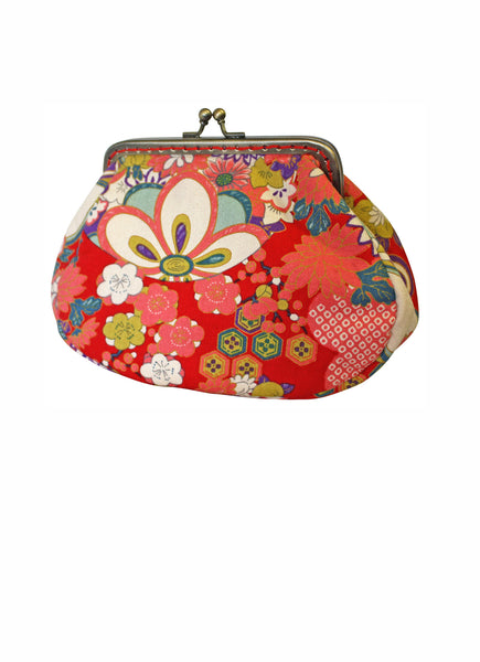 Red Trad Large Clip Purse