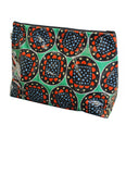 Large Green Flower Toiletries Bag
