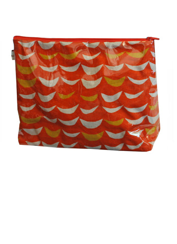 Large Orange Crest Toiletries Bag