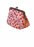 Pink Blossom Large Cotton Clip Purse