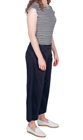 Jomi Black Bengaline 7/8 Pant black and white lining