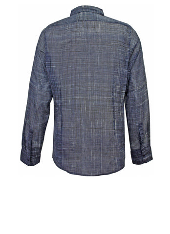 Painted Check Navy Men's Shirt
