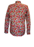 Grande Red Paisley Men's Pocket Shirt