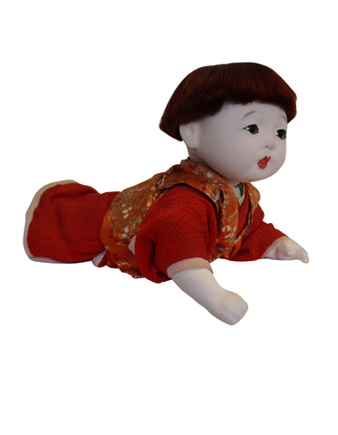 Gofun Boy Japanese Doll - Instore Only