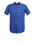 Blue short-sleeved plaid