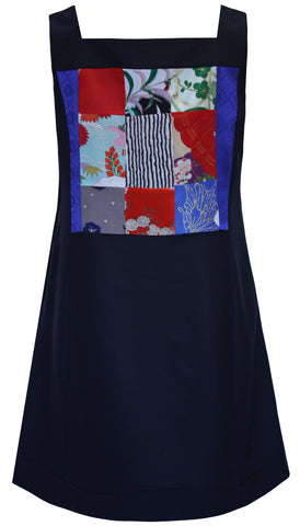 Blues Patchwork Pinafore