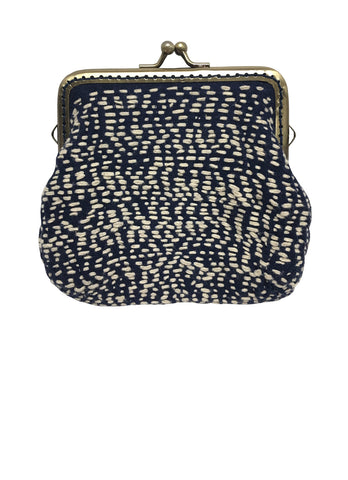 Leaf Pattern Sashiko Stitched Bag