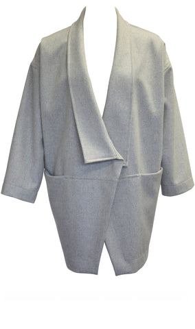 Grey Oversized Wrap Jacket