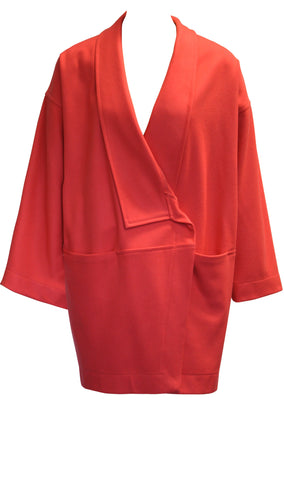 Coral Oversized Wrap Jacket