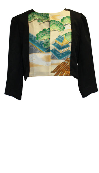 Bonsai Black Cropped Panel Jacket