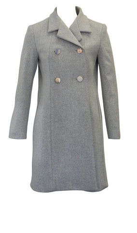 Pea Coat with Kimono Buttons