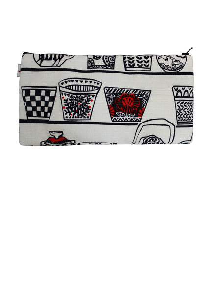 Retro Tea Cup Zip Up Purse