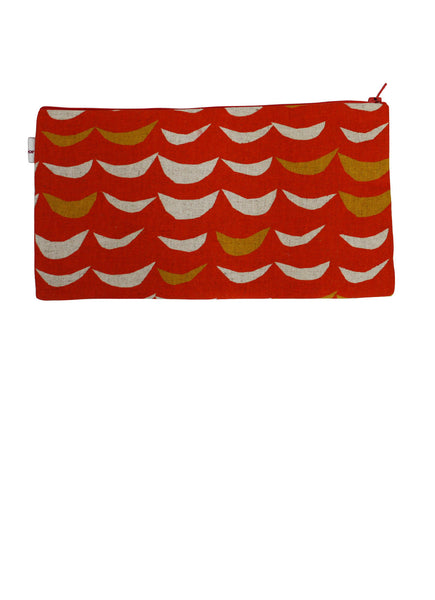 Retro Orange Zip Up Purse
