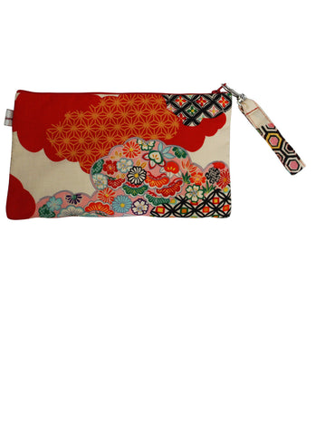 Traditional Kimono Zip Up Purse