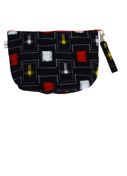 Retro Yukata  Zip Up Purse - Round