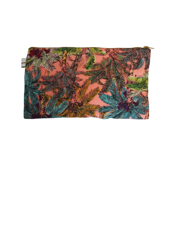 Tropical Trees Zip Up rectangle Purse