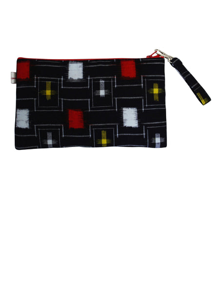 Retro Yukata Zip Up Purse