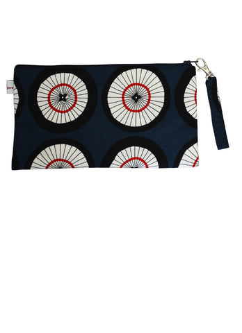 Wagasa Zip Up Purse - Navy