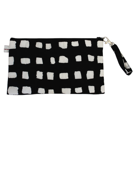 Black & White Dots Zip Up Purse