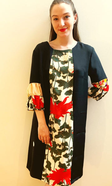 Double Puffed Sleeve Dress Mēpuru