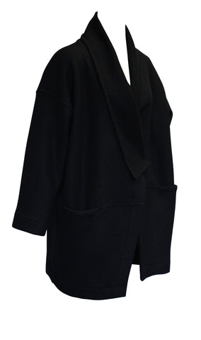 Black Oversized Wrap Jacket