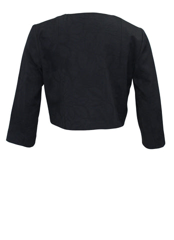 Black Cropped Panel Jacket
