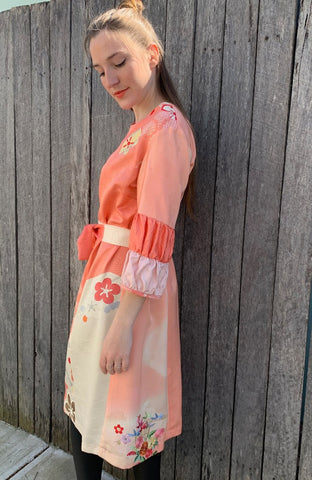 Double Puffed Sleeve Hanabira Dress