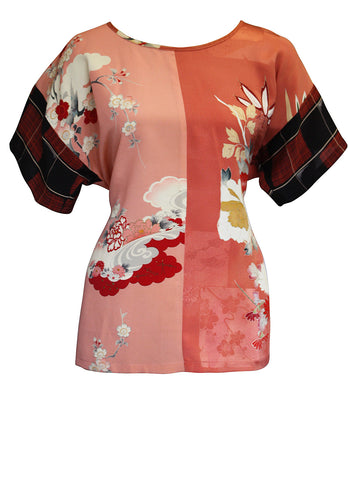 Sake Emi Silk Tunic Top