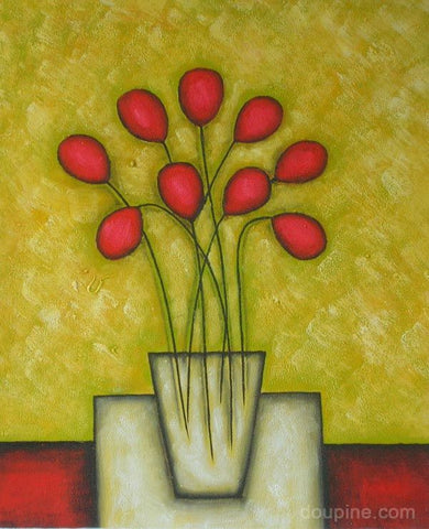 Red Flowers - HS2587 (60x90 cm)