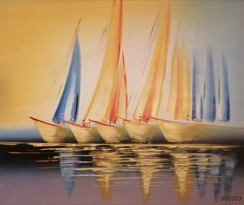 Five Sailing boats - HS3676