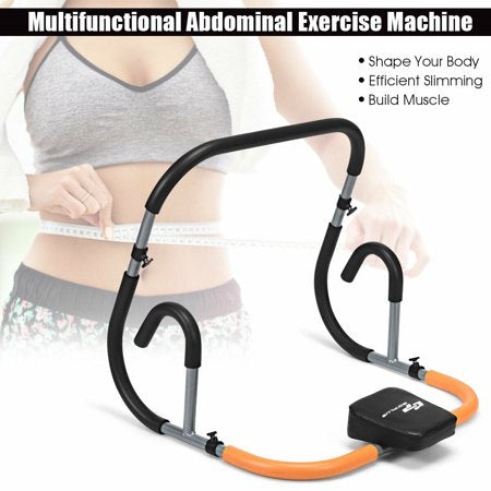 Ab Fitness Crunch Abdominal Exercise Workout Machine for Glider Roller & Pushup
