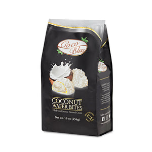 Coco Bliss Coconut Wafer Bites Filled with Coconut Flavored Cream - 16.0 oz (454g)
