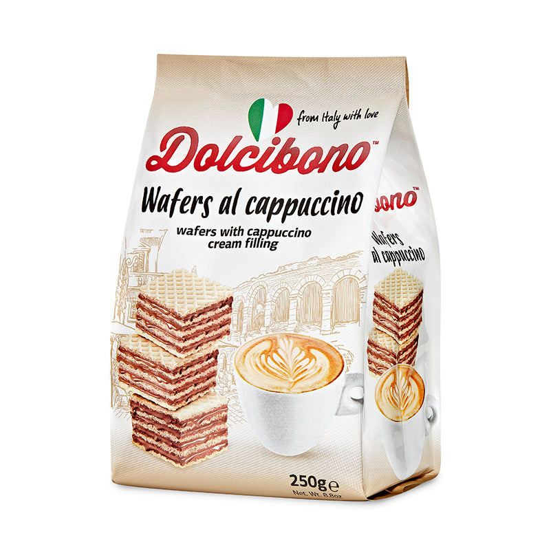 Dolcibono Wafers With Cappuccino Cream Filling - 8.8oz (250g)